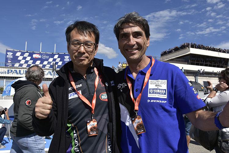鶴田監督とGMT94のクリストフ監督、TRICK STARが世界耐久参戦のきっかけを作った人物。お互いをリスペクトしつつ切磋琢磨するライバルでもあります