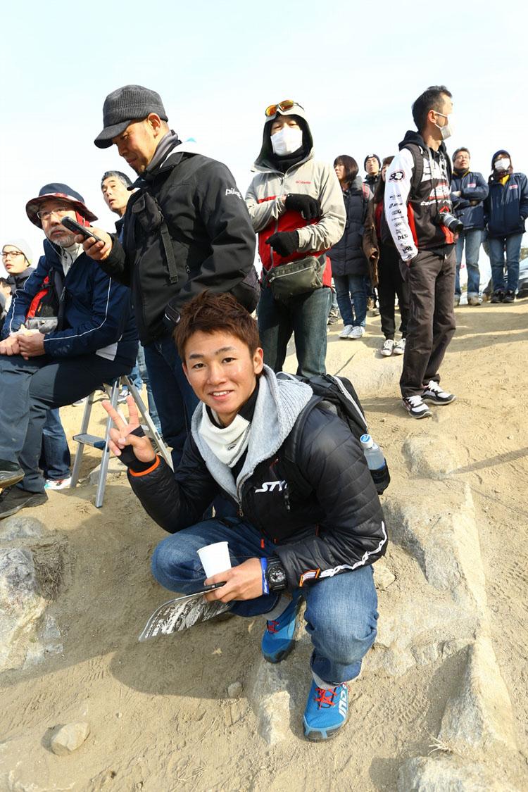 25_観戦に来ていたアジアロード選手権の伊藤勇樹選手。