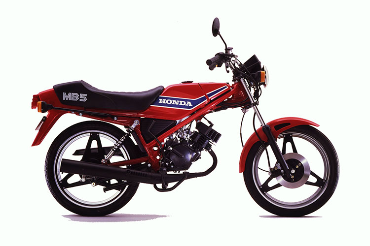 1980年6月 MB50 セミアップハンドル仕様 ヒーリオスレッド