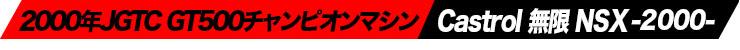 2000年JGTC GT500チャンピオンマシン Castrol 無限 NSX