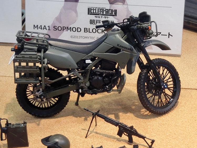 陸上自衛隊 偵察オートバイカワサキKLX250