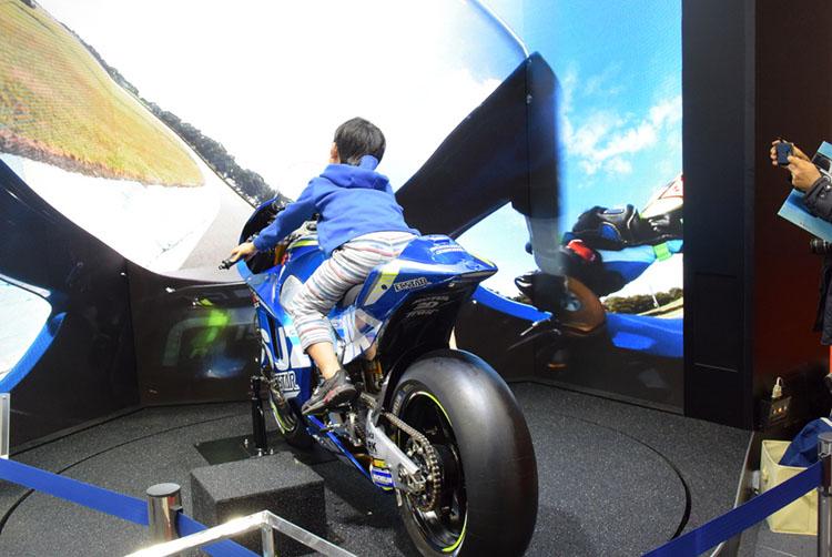 MotoGP体験コーナー