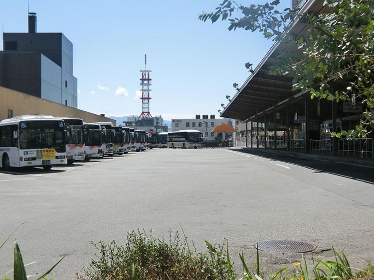 長野バスターミナル2017年4月撮影