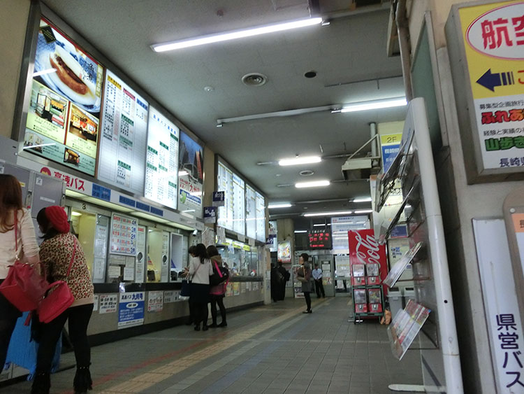 長崎県営バスターミナル2013年10月撮影