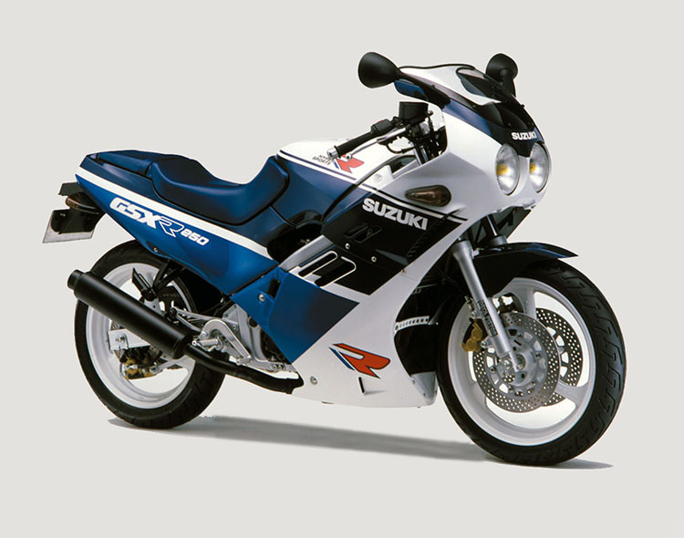 GSX-R250(GJ72A) ブルー・ホワイトツートン