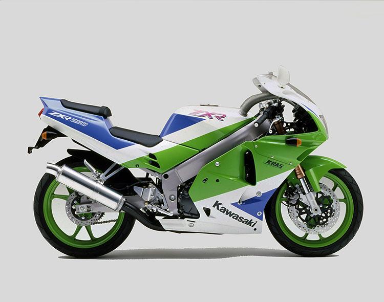 ZXR250(C2) ライムグリーン×パールアルペンホワイト×ブルー36