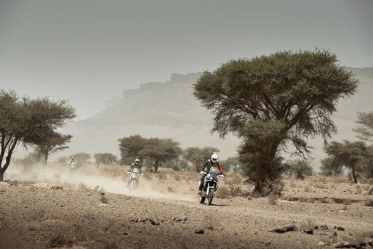 砂漠のハイスピードライディングを堪能する