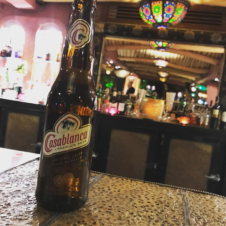 ビールは、どこのレストラン、ホテルでも普通に飲める。カサブランカというビールは安くて美味。ホテルで100円ほどだった