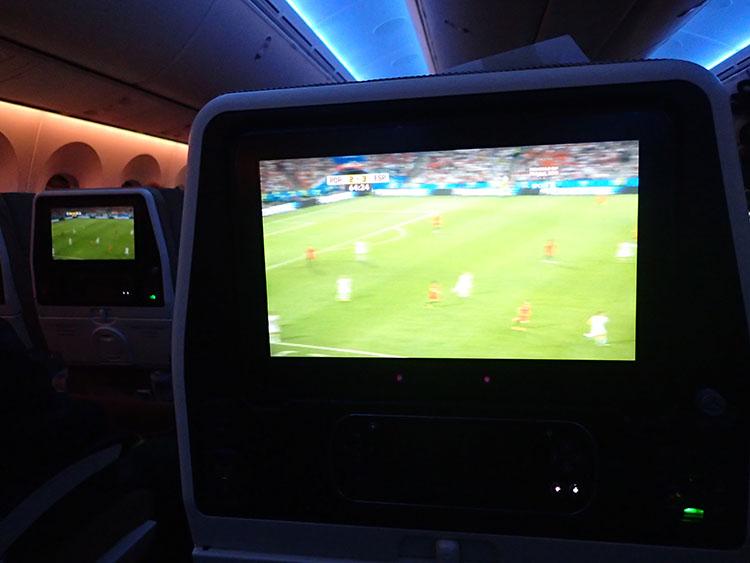 01スペインへ向かう機内でスペインvsポルトガルの生中継