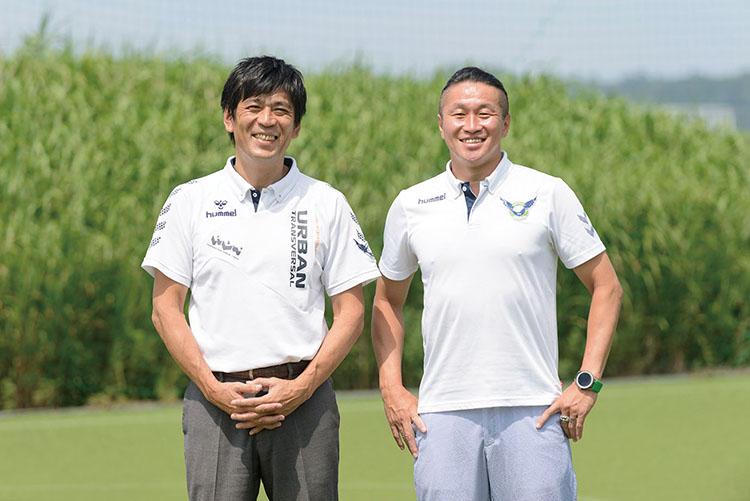 ガイナーレ鳥取の代表取締役社長 塚野真樹さんと、代表取締役GMの岡野雄行さん