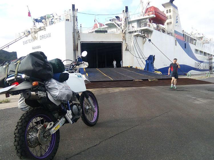 いよいよ境港からウラジオストクへ渡るフェリーに乗船。行ってきます!
